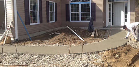 Residential Landscaping Under Construction