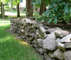dry stack field stone wall