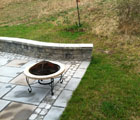 cultured stone paver patio