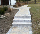 stone paver path and steps