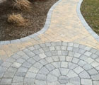 cultured stone paver paths