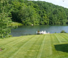 maintained waterfront lawn