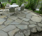 water front flag stone patio